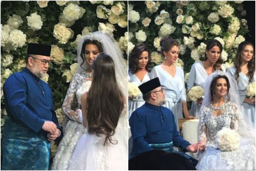 Photos that were said to be of the couple's wedding went viral on social media, with reports naming Sultan Muhammad V's love interest as Ms Oksana Voevodina, winner of the Miss Moscow 2015 title.