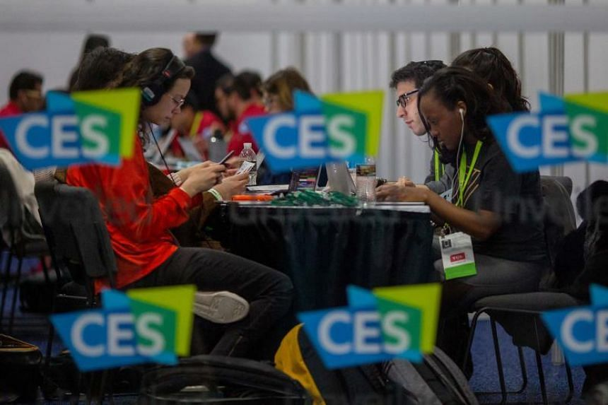 Members of the media cover the Consumer Electronics Show (CES) Unveiled Las Vegas event in advance of CES in Las Vegas on Jan 6, 2019.
