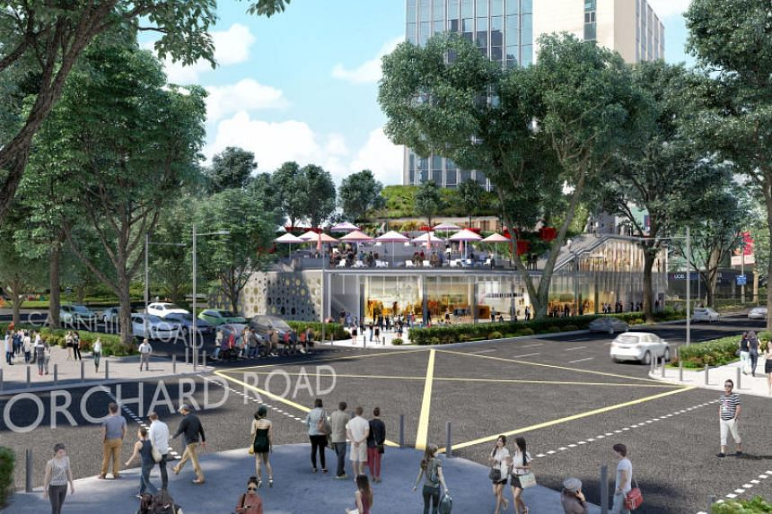 An artist's impression of the 2½-storey Design Orchard mall, the new home for Singapore labels in Orchard Road.
