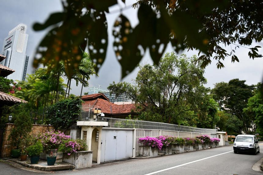 The home of founding prime minister Lee Kuan Yew at 38, Oxley Road.