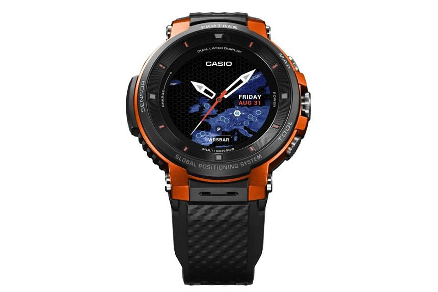 Casio ProTrek WSD-F30 is the third generation of Casio's rugged ProTrek outdoor smartwatch, which runs on Google's Wear OS smartwatch operating system.