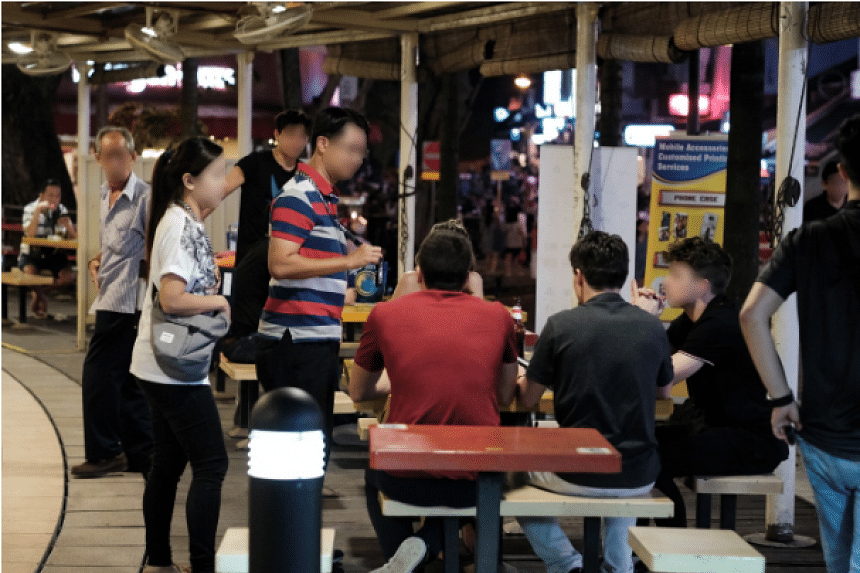 Six public entertainment outlets were found to have contravened licensing conditions and a man was arrested during a nine-day operation conducted by the Clementi Police Division in December 2018. PHOTO: SINGAPORE POLICE FORCE