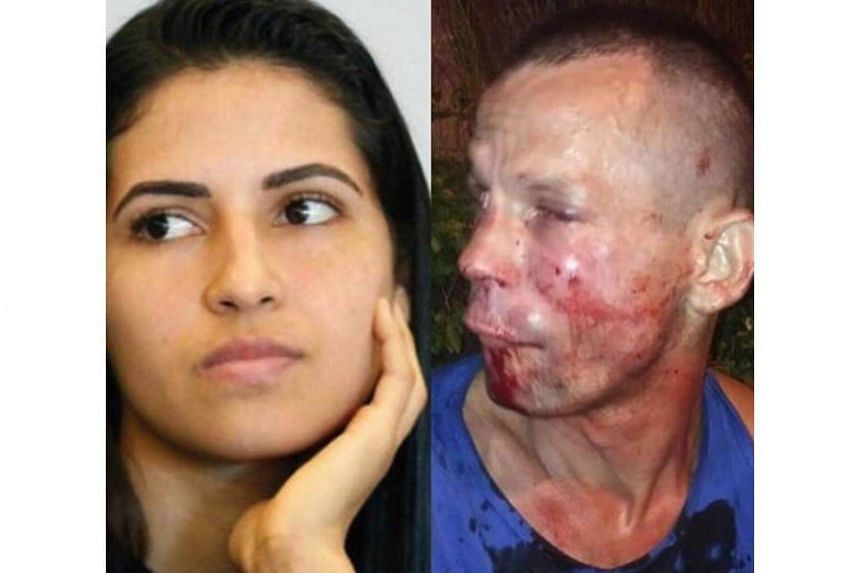 Polyana Viana (left), an Ultimate Fighting Championship strawweight, brought the robber down with two punches and a kick.