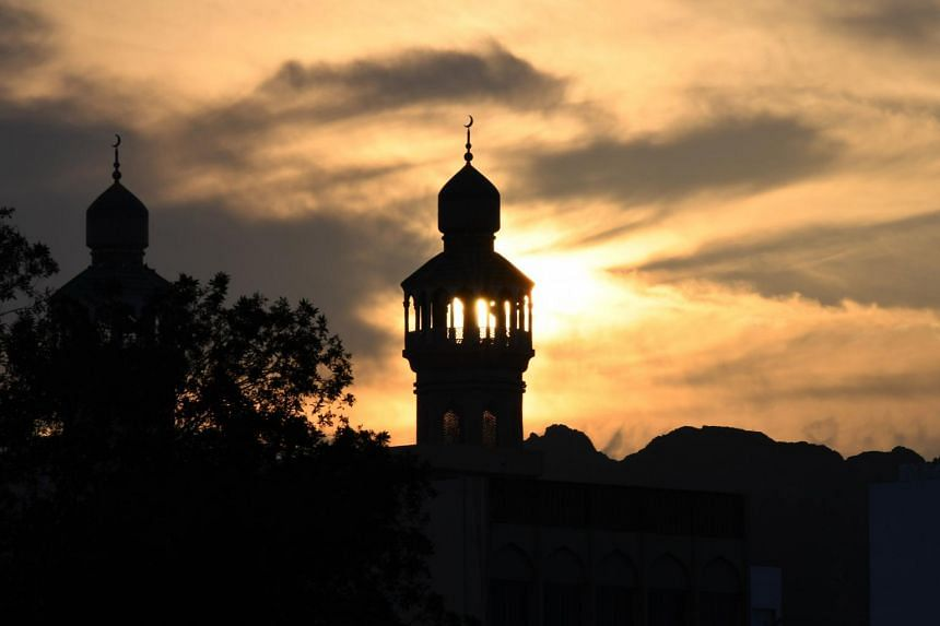 A mosque minaret in the Mutrah area of the Omani capital Muscat, on Nov 16, 2018.