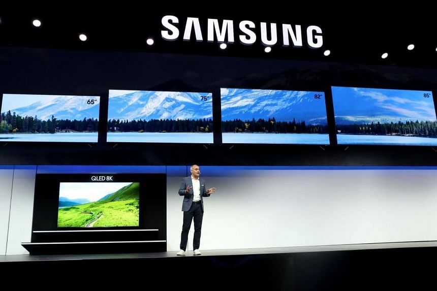 Samsung Electronics America Senior Vice President Dave Das introduces the new QLED 8K television during a press event for CES 2019 in Las Vegas, Nevada.