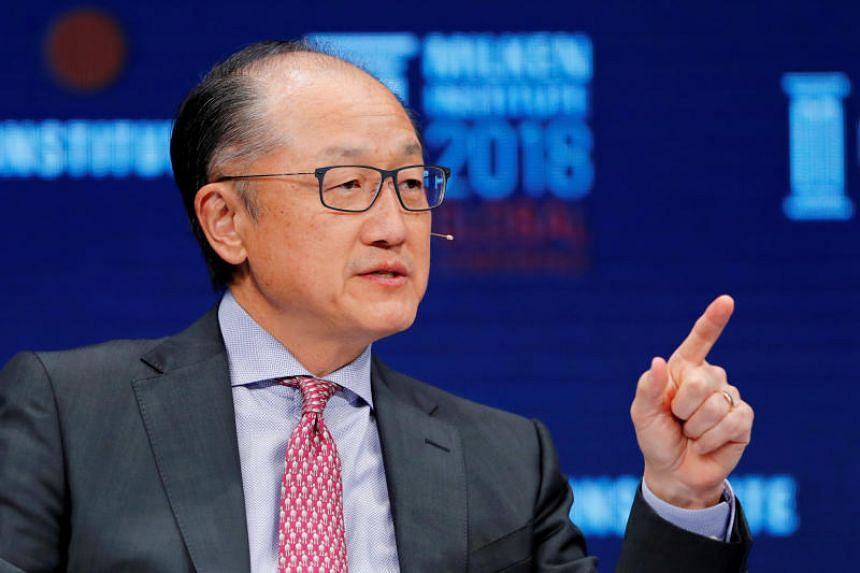 World Bank president Jim Yong Kim at the Milken Institute 21st Global Conference in Beverly Hills, California, on May 1, 2018.