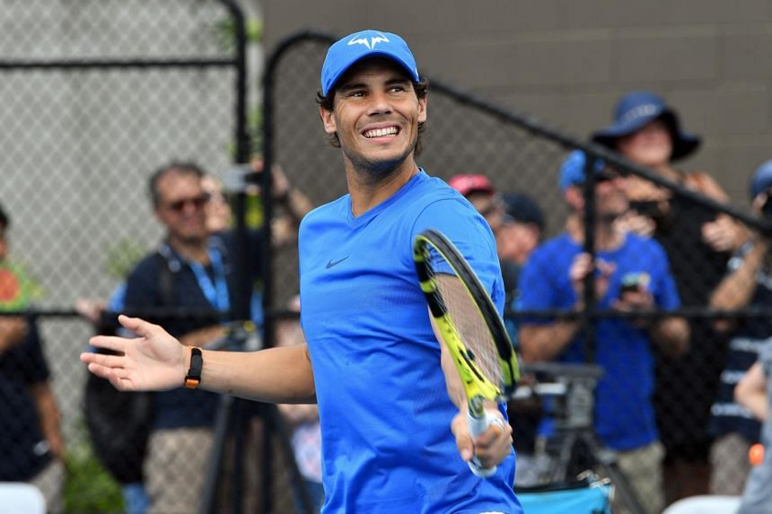 """Rafael Nadal said that he was """"feeling better"""" after withdrawing from the Brisbane International, when an MRI revealed a slight strain of his left thigh."""