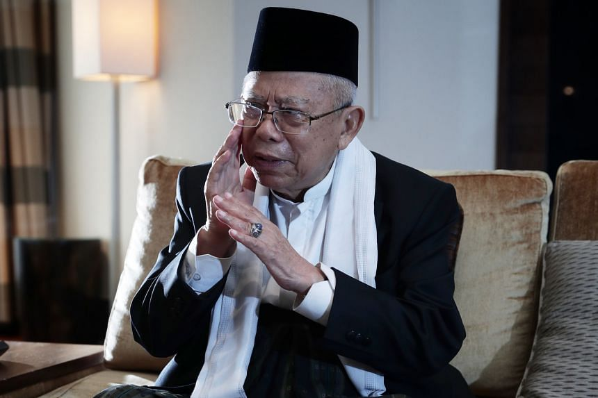 Analysts said the statement by Mr Ma'ruf Amin (above), who is the running mate of President Joko Widodo in polls set for April, is aimed at attracting voters from minority groups.