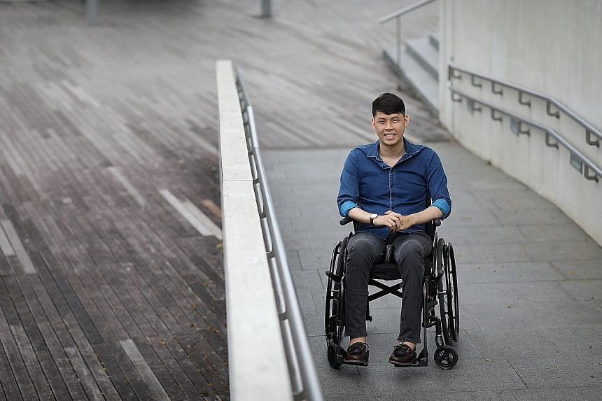 Mr Alwyn Keng, who is paralysed from his waist down after a 2012 swimming pool accident, bounced back in his studies and life and hopes his story shows that people with special needs are just as capable.