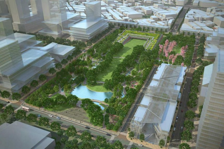 """Parks and """"green roofs"""" planted with vegetation will soak up rain during the annual monsoon and help dense urban centres like Bangkok adapt to climate change."""