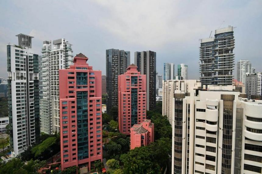 Condominiums in the vicinity of Orchard Road. In terms of location, resale prices in the prime or core central region saw a month-on-month decrease of 1.8 per cent in December 2018.