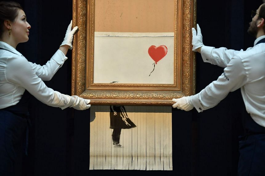 The work, now called Love Is In The Bin, will be shown for the first time since it was created in a theatrical stunt at Sotheby's in London in October.