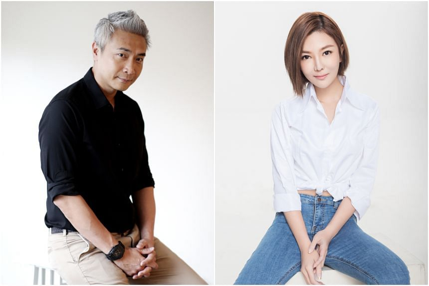 Actors Tay Ping Hui (left) and Tong Bingyu quit Mediacorp last year and relocated to China.