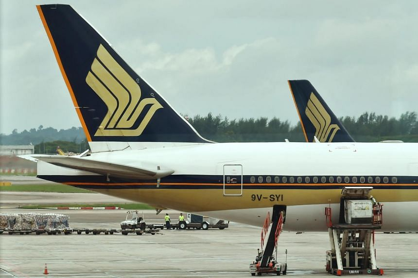 File photo of Singapore Airlines aeroplanes at Changi Airport Terminal 2.