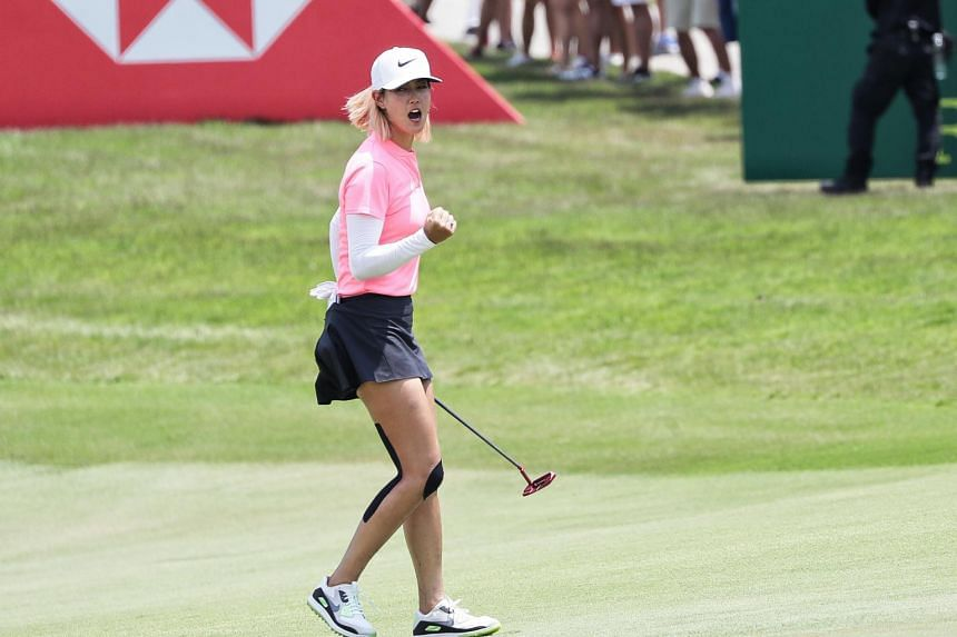 Michelle Wie underwent wrist surgery in October to repair a small fracture, bone spurs and a pinched nerve.