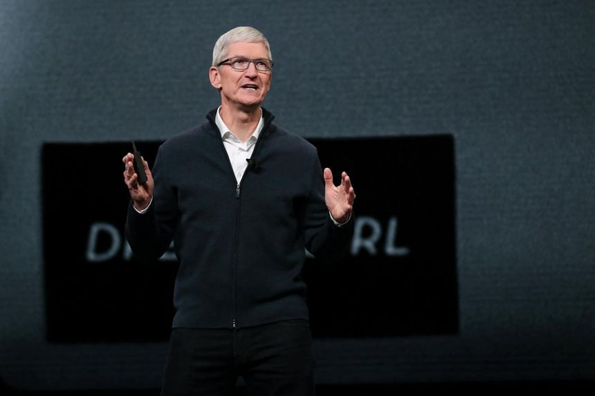 Mr Tim Cook also got a US$3 million salary and shares worth US$121 million from his 10-year stock award, bringing his total haul to US$136 million, along with perks of about US$682,000.