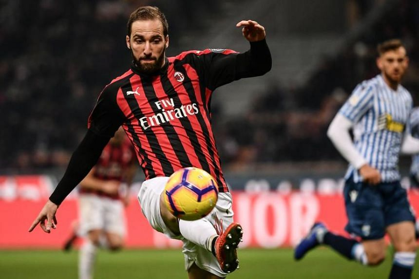 AC Milan striker Gonzalo Higuain joined Milan on a season-long loan from Juventus in July with an option to buy but has struggled to settle at the San Siro, scoring eight goals in all competitions.