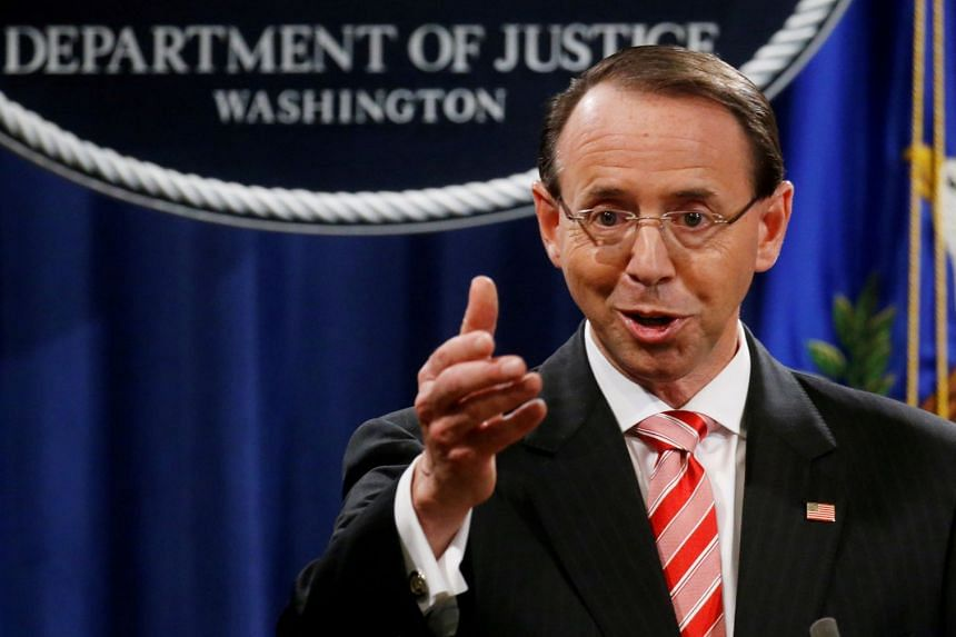 Rod Rosenstein (above) has faced frequent criticism from President Donald Trump.