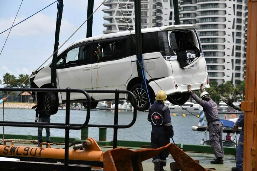 Lim Jin Ping drove to the Sentosa Gateway entrance on Aug 25, 2017, and smashed through a gantry barrier, causing damage which amounted to $1,605.