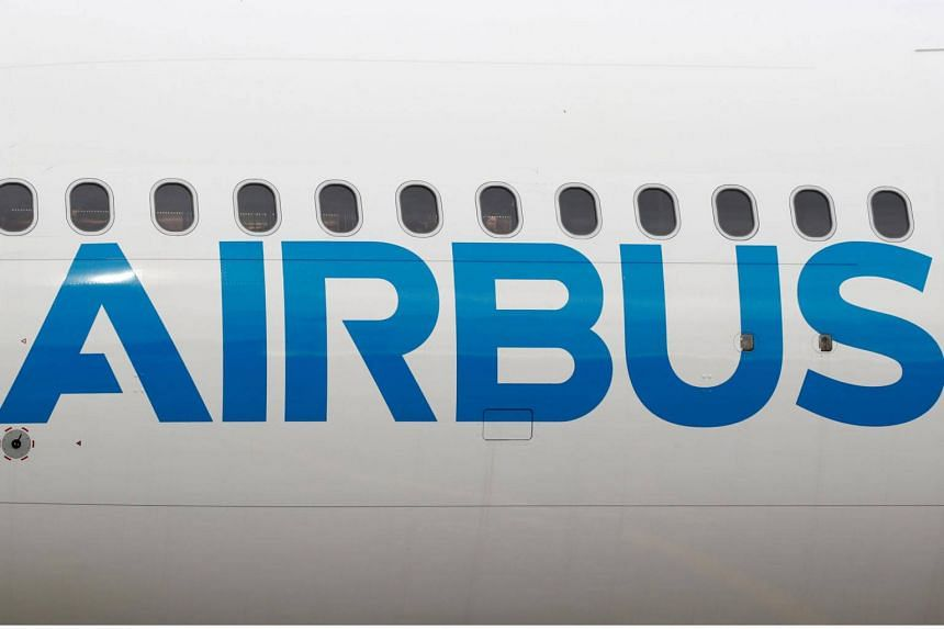 The logo of Airbus seen after a flight event presentation in Colomiers near Toulouse, France, on Nov 6, 2018.