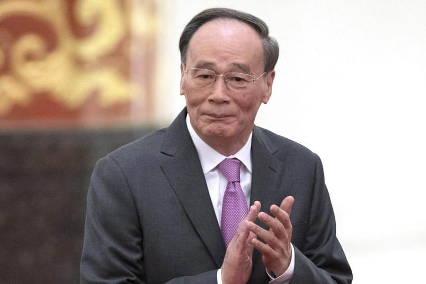 Chinese Vice-President Wang Qishan arrives for an event at the Great Hall of the People in Beijing, China, on Jan 10, 2019.