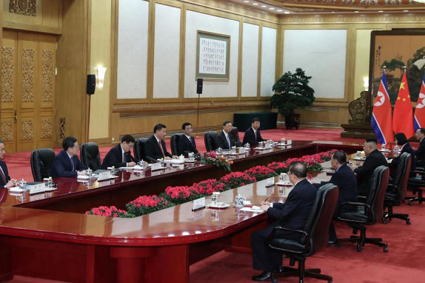 North Korean leader Kim Jong Un met Chinese President Xi Jinping in Beijing during his two-day visit to the Chinese capital this week, and they reiterated their support for the denuclearisation of the Korean peninsula.