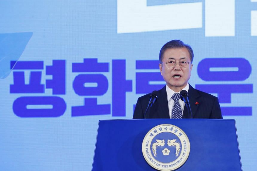 South Korean President Moon Jae-in has also pledged that peace-building on the Korean peninsula will continue to expand and speed up in 2019.