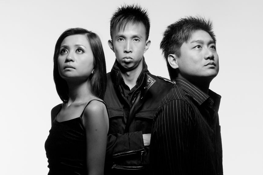 Home-grown rock trio Lunarin, comprising (from far left) Linda Ong, Ho Kah Wye and Loo Eng Teck, have a fresh batch of songs to mirror socio-political events.