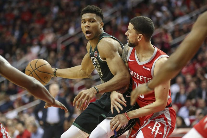 The Milwaukee Bucks' Giannis Antetokounmpo scored 27 points to lead the Bucks to a hard-fought 116-109 victory over the Houston Rockets on Jan 9, 2019.