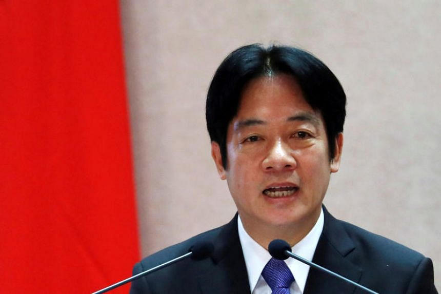 Taiwan Premier William Lai said he would step down along with his Cabinet on Jan 11, 2019.
