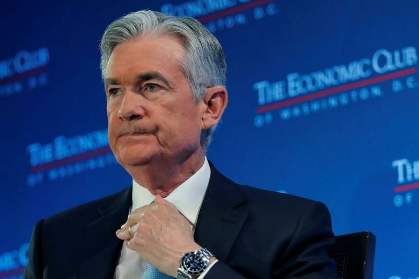 Jerome Powell attends a luncheon discussion hosted by the Economic Club in Washington.