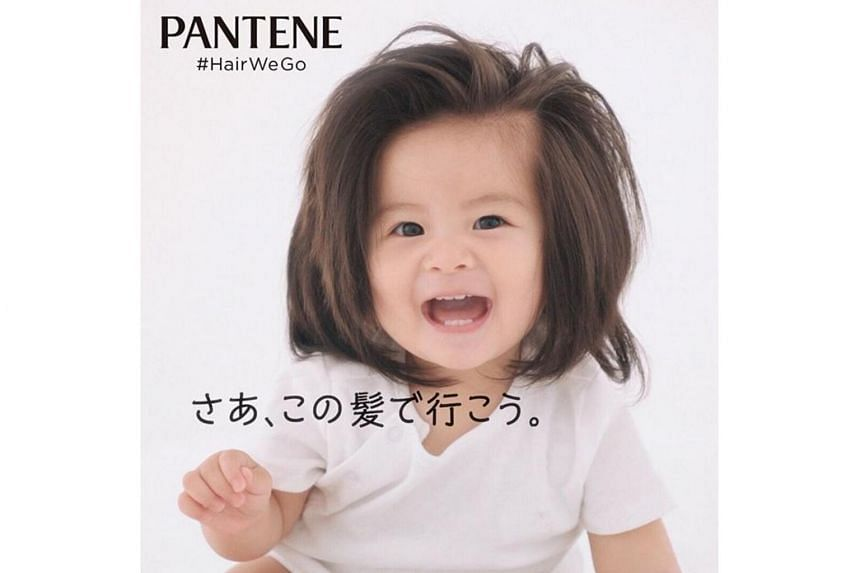 Japanese Baby With Full Head Of Hair Now A Star In Pantene