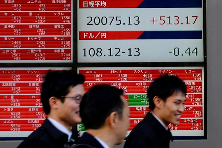Shares in Tokyo led the region, with trading in Hong Kong, South Korea and Australia mostly flat.