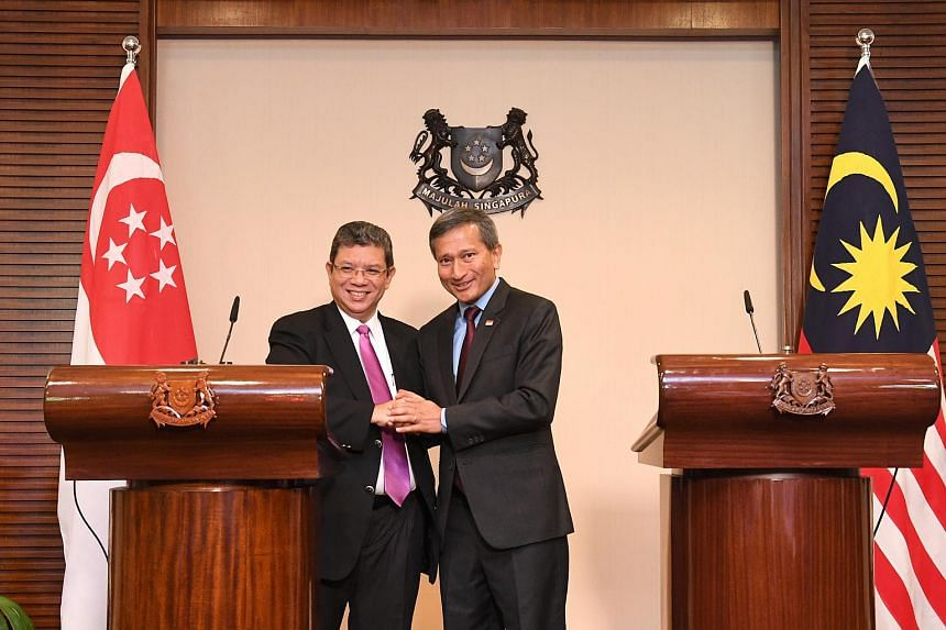 In a joint declaration after a meeting in Singapore on Jan 8, 2019, Foreign Minister Vivian Balakrishnan and his Malaysian counterpart Saifuddin Abdullah stressed the need to keep the situation on the ground calm to allow discussions to take place.