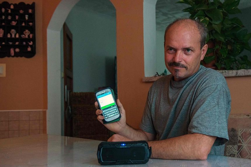 Throat cancer patient Vlastimil Gular can say what he wants in his own voice thanks to technology that uses past recordings of his voice to create synthetic speech that can be played on his mobile phone via an app.