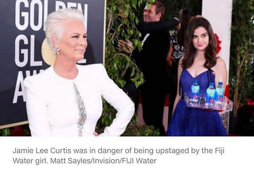 Jamie Lee Curtis (left) at the 76th annual Golden Globe Awards ceremony at the Beverly Hilton Hotel, in Beverly Hills, California, on Jan 6, 2019.