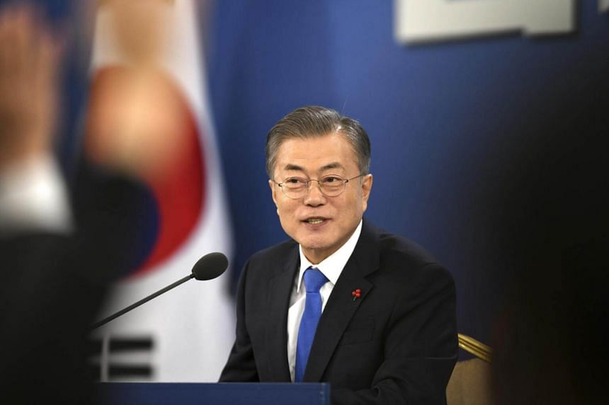 """South Korean President Moon Jae-in called for the Japanese government to foster a """"more humble attitude"""" towards wartime issues and to respect judicial decisions which his administration could not influence."""