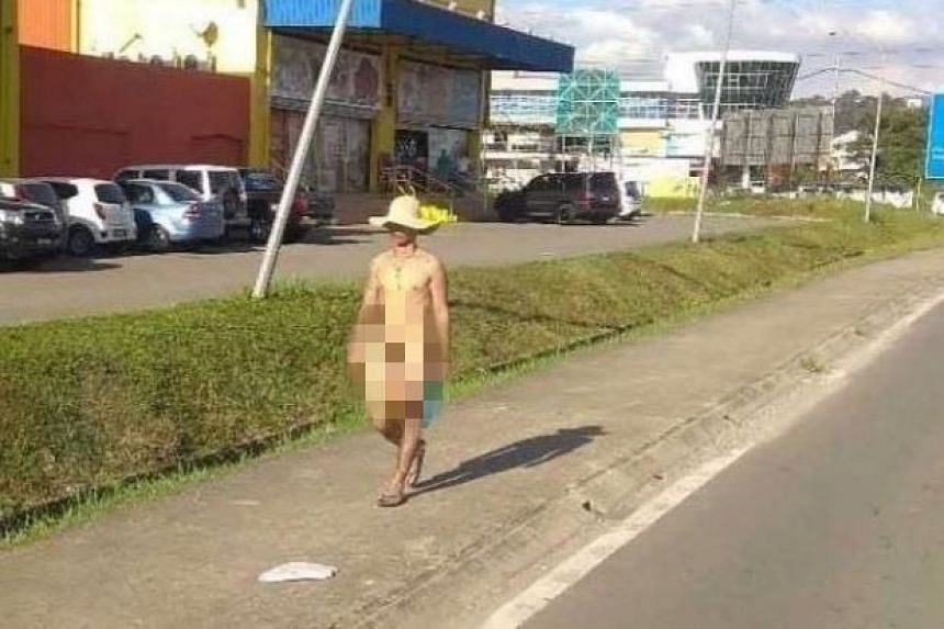 The photo of the naked man was circulated via WhatsApp on Thursday (Jan 10). It is not known when the photo was taken, who the man is, or whether he is a local or a tourist.