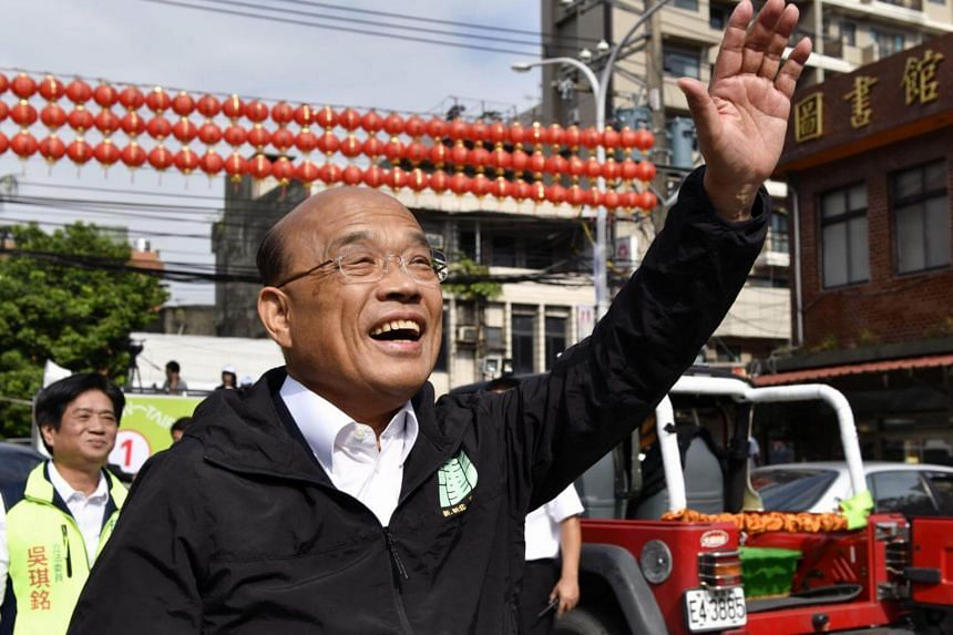 Mr Su Tseng-chang, popular among the DPP's core supporters, has led Taiwan's most populous New Taipei City for years.