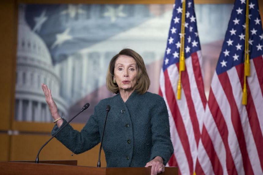 US Speaker of the House Democrat Nancy Pelosi holds a news conference on Capitol Hill in Washington, DC, US, on Jan 10, 2019.