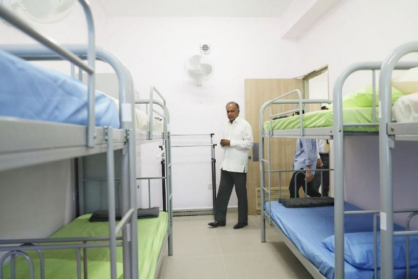 Minister for Law and Home Affairs K. Shanmugam at the halfway house located in Upper Changi Road North on Jan 11, 2019.