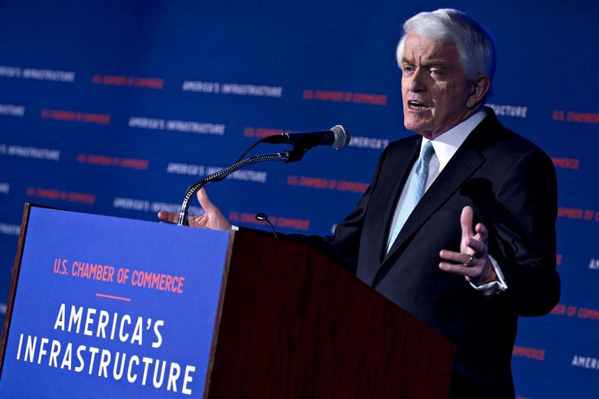 Thomas Donohue speaking at the US Chamber of Commerce in Washington in 2018.