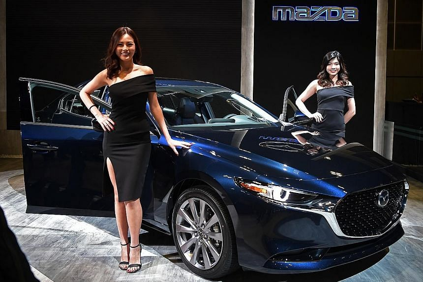 The current Mazda 3 is already a sleek number, but the new one (above) is even sleeker. Variants arriving include a mild hybrid and a variable compression model.