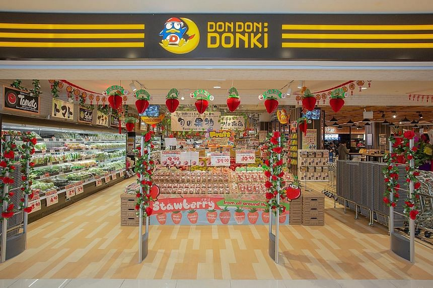 The Japanese discount chain's 26,000 sq ft space features a wider selection of Japanese cuisine, a foodcourt and a bargain section.