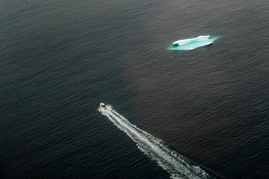 File photo of an iceberg in the open ocean near Tasiilaq, Greenland, on June 24, 2018.
