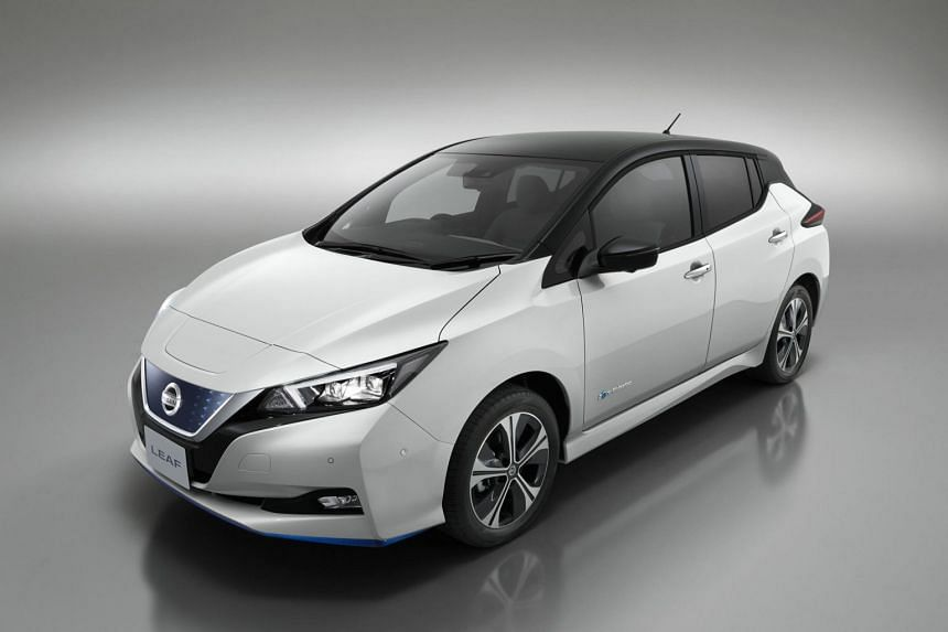 The Leaf 3.Zero (above) features an output of 160kW (up from 110kW) and 340Nm of torque (versus 320Nm) and a driving range of up to 383km (versus 270km). This version is unlikely to be introduced in Singapore, though.