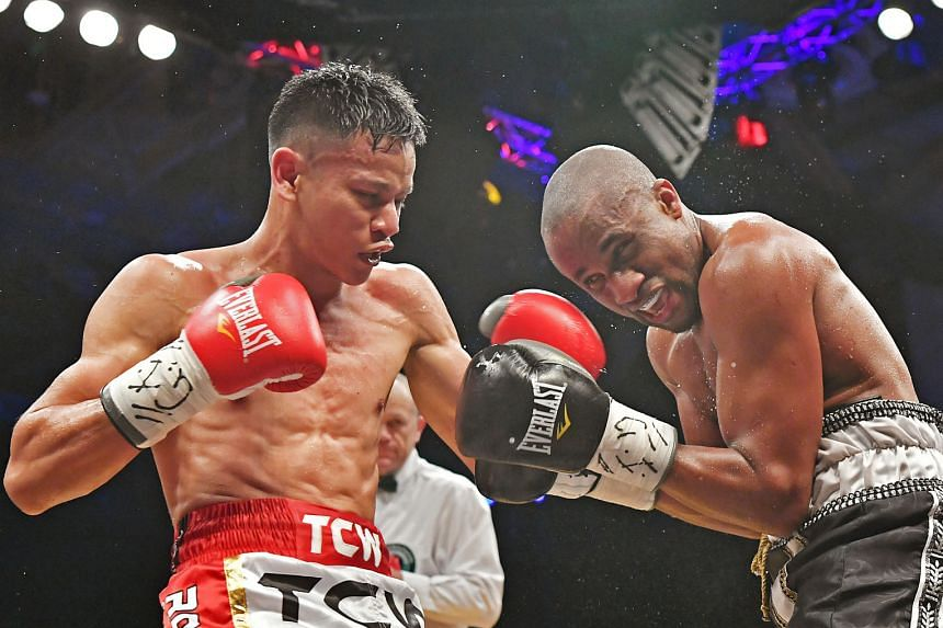 Singapore's Muhamad Ridhwan lost a split decision to Namibian Paulus Ambunda in a 12-round fight for the International Boxing Organisation super bantamweight title last Sept 29. They are scheduled to meet again in a World Boxing Council (WBC) silver