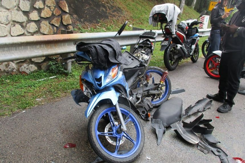 Several motorcyclists were taken to hospital after a vehicle driven by a Singaporean crashed into them.