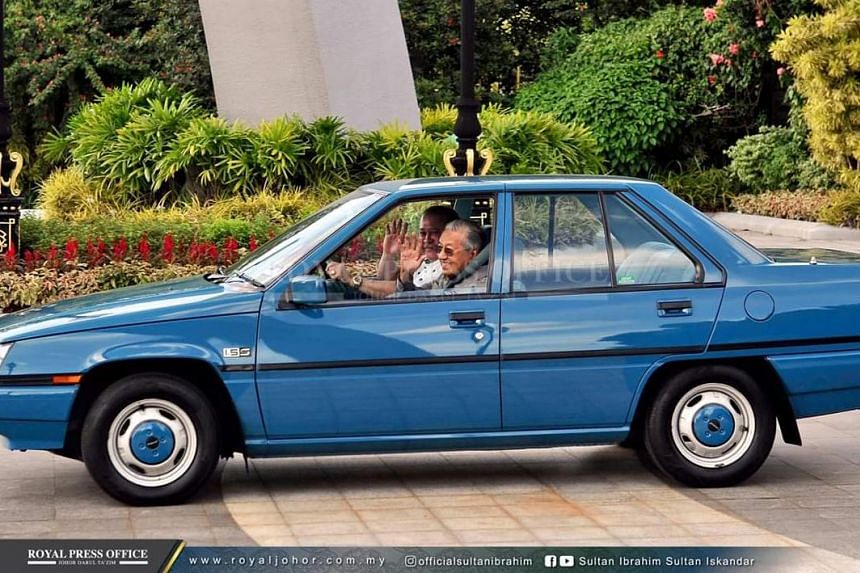 Johor Crown Prince Tunku Ismail Ibni Sultan Ibrahim also tweeted the now-famous picture of Sultan Ibrahim personally driving Dr Mahathir to the Senai International Airport in a first-generation Proton Saga, which the premier gave to the Ruler's fathe