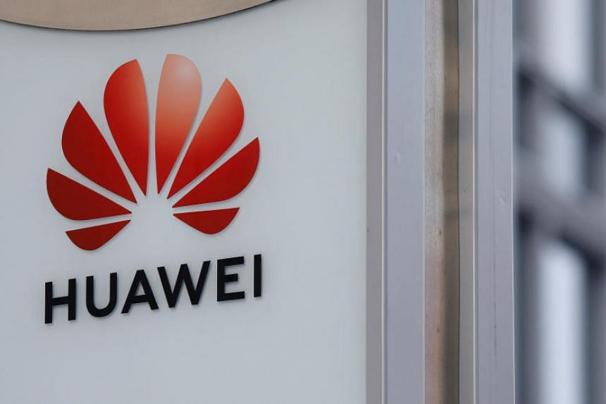 The logo of Huawei seen in front of one of its offices in Warsaw, Poland, on Jan 11, 2019.